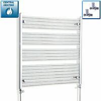 1000 mm High 900 mm Wide Straight Chrome Heated Towel Rail Radiator Bathroom