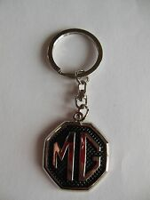 MG MGA MGB MIDGET MGTC MGTD MGTF METAL KEY FOB  RING KEYRING KEY CHAIN BLACK