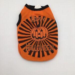 Pet Halloween Happy Halloween Pumpkin Orange Tank Top Dogs Costume