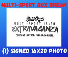 2021 GOLD RUSH AUTOGRAPHED 16X20 NFL MULTI-SPORT PHOTO LIVE BOX BREAK #4056