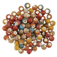 100pcs Vintage Loose Ceramic Porcelain Beads Charms for Jewelry Making