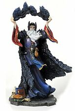 11 Inch Wizard w/ Crows Magician Fantasy Decoration Sculpture Magic Merlin
