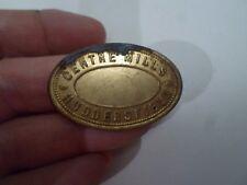 Vintage Brass Token / Plaque CENTRE MILLS, HUDDERSFIELD