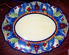 "EUC TABLETOPS UNLTD. ESPANA ""TOLUCA"" OVAL SERVING PLATTER 18 INCHES"