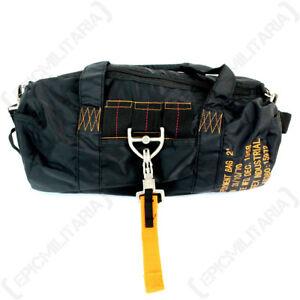 Black Para Pilot Bag - Satchel Shoulder School Military Airforce Pack Nylon New