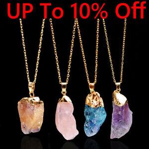 Reiki Necklace Natural Crystal Gemstone Stone Quartz Healing Chakra Pendant