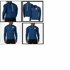 Nike Mens size Team USA Olympic Flex Running Jacket 807483 451 L Blue 2016 Rio
