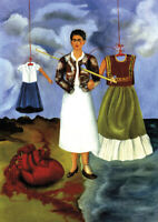 Frida Kahlo - A4 size 21x29.7cm QUALITY Decor Canvas Art Print Poster Unframed
