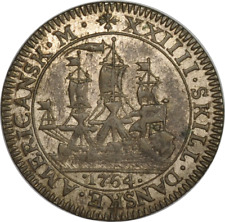 Danish West Indies 1764 24 Skilling Frederik V - Rare Contemporary Forgery