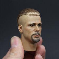 NEW 1/6 Fury Brad Pitt HEADPLAY blond Small cloth head carvin actor star