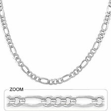 """6.00mm 20"""" 23.00gm 14k Solid Gold White Women's Men's Figaro Link Chain Necklace"""