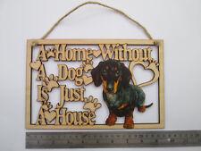 Perro Salchicha, grande, de madera, casa de perro y placa de casa, otras razas disponibles