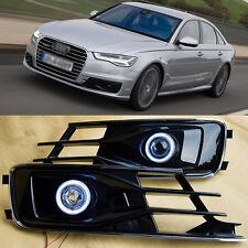 Superb COB Fog Lights Source Angel Eye Bumper Cover for Audi A6L 2016