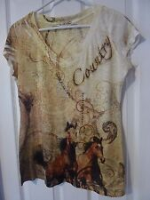 Women's Live and Let Live Short Sleeve Embellished Top Size S