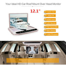 "12.1"" In Car Roof Overhead Flip Down LED HD Monitor FM MP4 MP5 DVD Video Player"