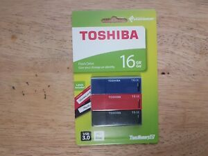 Toshiba USB 3.0 16GB Flash Drive 3-Pack