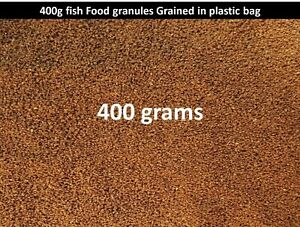 400g Quality fish food granules Grained for all types tropical and Cichlids