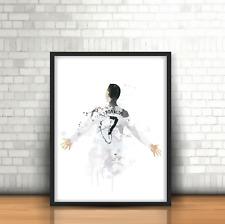 Cristiano Ronaldo - Real Madrid Inspired Football Art Print Design Number 7 CR7