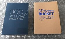 2 Books 300 WRITING PROMPTS  & My Ultimate Bucket List BRAND NEW! ~ Piccadilly