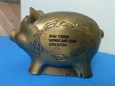 Vintage Metal Home Federal Savings & Loan Association Pig Bank Piggy Bank USA