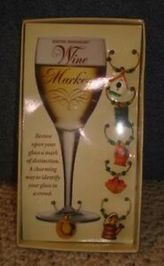 Garden Themed Outdoors Wine Marker Charms Set of 6 NIP