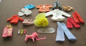 VINTAGE TOPPER DAWN & FRIENDS CLOTHING &  ACCESS. SOME SMALL DOLL UNKNOWN PCS