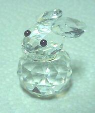 Swarovski Crystal Small Rabbit Figurine 7652 Very Cute!