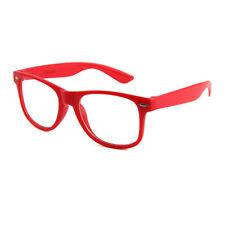 Nerd Brille Retro Hornbrillen Sonnenbrille Atzen Brille Klar Wayfarer Rot Farbe