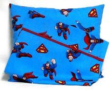 Superman Toddler Pillow and Pillowcase set on Blue Cotton #Sm3 Handmade