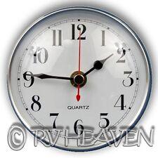 Caravan Wall Clock, 100mm Diameter, Silver & White Camping jayco coromal boat