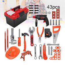 Kinder Werkzeugkoffer Spielzeug Handwerker Rollenspiel Werkzeugkasten Geschenk