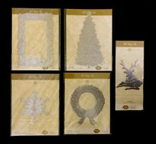Anna Griffin HOTFOIL STAMP PLATE DIES LOT Deer Frame Tree Wreath Rare Foil Xmas