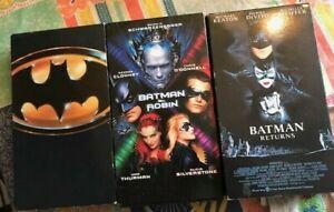 Batman Set of 3 VHS Tapes