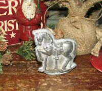 Primitive Antique Vtg Tin Style Christmas Carousel Horse Resin Chocolate Mold