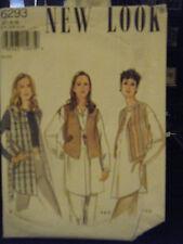 New Look 6293 Misses Tunic Shirt, Waistcoat & Vest Pattern - Size 6-16