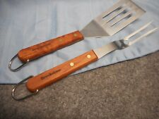 Brookstone Bbq Grilling Fork Spatula 2 Pc Outdoor Cooking Tools New