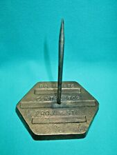 Vintage Desk Paper Spindle Made Out Of A Contractors Brass Concrete Marker-M-16