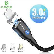 Magnetic Adapter Charger For iPhone IOS Android Type C USB Cable