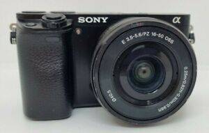 Sony Alpha A6000 Digital Camera with 16-50mm Lens (Black) - Used
