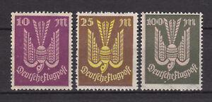 Germany Deutsches Reich 1923 Mi. Nr. 235-237 Air Mail Issue MH