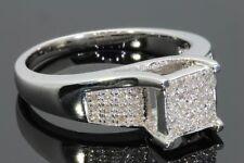 20 Quilates Mujer Acabado Oro Blanco Diamantes Boda Anillo