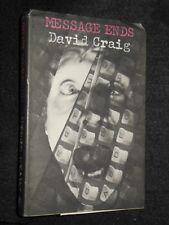 DAVID CRAIG; Message Ends (1969-1st) Uncorrected Proof in V RARE Variant Jacket