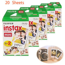 Fujifilm Instax Mini Instant White Film 20pcs For Fuji 8 25 50s 70 90 7s Camera