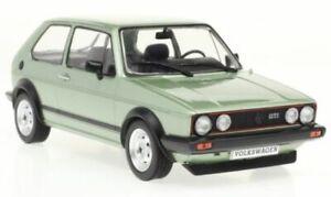 VW GOLF I GTI  diecast model road car green 1983 1:24th WHITE BOX 124056