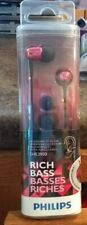 Philips SHE3900 Rich Bass In-Ear Headphones Earbuds Pink BRAND NEW