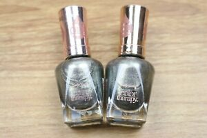 Lot of 2 Sally Hansen Color Therapy Nail Polish 130 Therapewter 0.5 fl oz