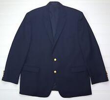 Lauren Ralph Lauren 46R Blue Blazer Wool Gold Toned Metal Buttons Mens Size Sz