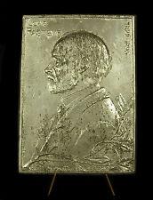 Large médaille plaque étain 410 g Docteur scientifique Louis Pasteur  Medal 铜牌