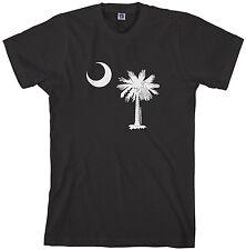 Threadrock Mens South Carolina Flag Design T-shirt Palmetto Crescent State