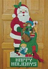 SANTA DOOR HANGER CHRISTMAS PLASTIC CANVAS PATTERN INSTRUCTIONS